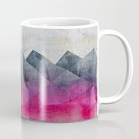 concrete Mugs featuring Pink Concrete by cafelab