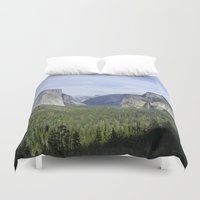 yosemite Duvet Covers featuring Yosemite Valley by Seafarer  Studio