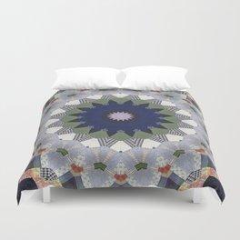 Patchwork Whimsy -- Vintage Block Quilt Mandala Kaleid0scope Duvet Cover