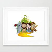 oz Framed Art Prints featuring Oz by 7pk2 online
