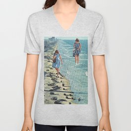 Walk on the Beach Unisex V-Neck