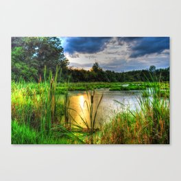 Sunset Over the Marsh Canvas Print