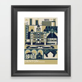 Denton, Texas Framed Art Print