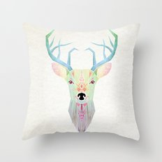 white deer Throw Pillow