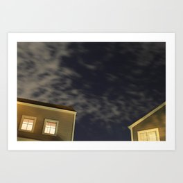 Moving clouds Art Print