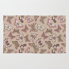 Butterflies pattern Rug