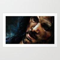 aragorn Art Prints featuring Aragorn by Five-Oclock