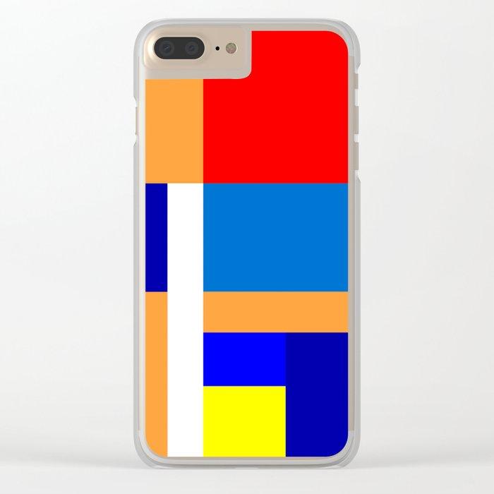 Mondrian #10 Clear iPhone Case