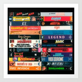 VHS - V.G. (A-Z) Art Print