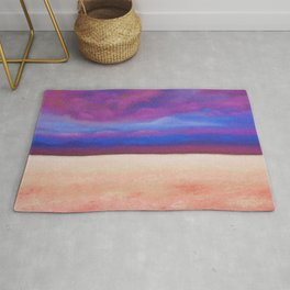 Red Salt Desert / Pastel Painting Rug