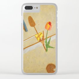 A Tulip Grows Clear iPhone Case