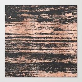 Marble Black Rose Gold - Never Mind Canvas Print