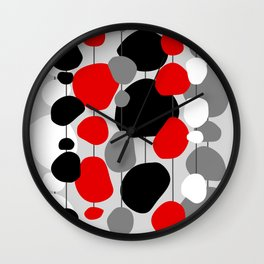 Hanging By A Thread - Abstract Wall Clock