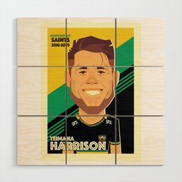 Teimana Harrison - Northampton Saints Wood Wall Art