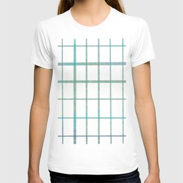 Green grid minimalist pattern T-shirt