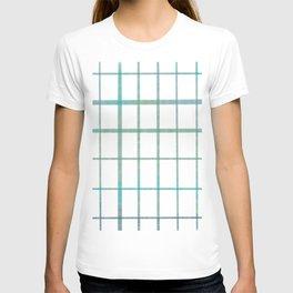 Green grid minimalist pattern T-shirt