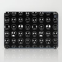 emoji iPad Cases featuring Cute Emoji Skulls by Leiah