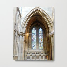 Stained Glass in Truro Cathedral Metal Print