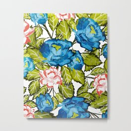 Indigo Bloom Metal Print