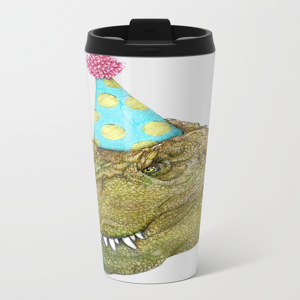 Party Dinosaur Ii Metal Travel Mug by Ecmazur MTM9054872