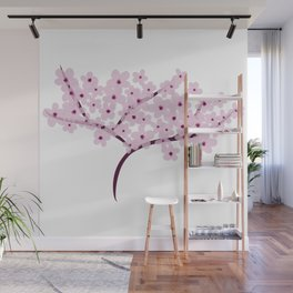 Cherry Blossom Flowers Tree Wall Mural