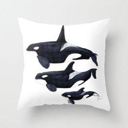 Orca (Orcinus orca) Throw Pillow