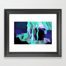 Moon Temple Framed Art Print