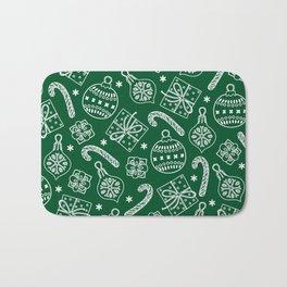 Christmas Doodle Pattern Bath Mat