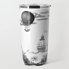 Aquarium Bulb Lighthouse Travel Mug