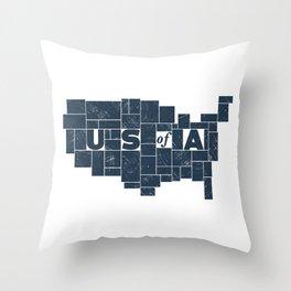 U S of A Throw Pillow