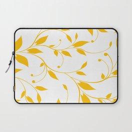FLOWERY VINES | white yellow Laptop Sleeve
