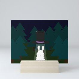 The abduction of Mr. Rabbitson Mini Art Print