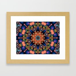 BBQSHOES: Kaleidoscopic Fractal Digital Art Design 1702K Framed Art Print