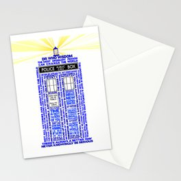 Doctor Who TARDIS Words of Wisdom Stationery Cards