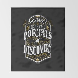 Lab No. 4 - Mistakes are the portals of discovery - James Joyce Corporate Startup Quotes Poster Throw Blanket