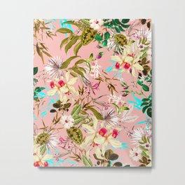Gardenia #pattern #botanical Metal Print