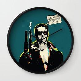 The Terminator Pop art film quote Wall Clock