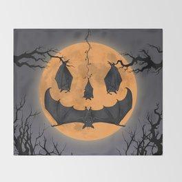 Halloween Moon Throw Blanket