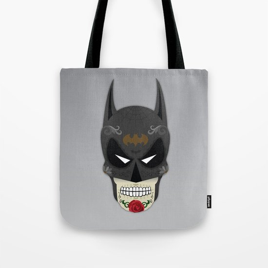 Bat-Man Sugar Skull Tote Bag