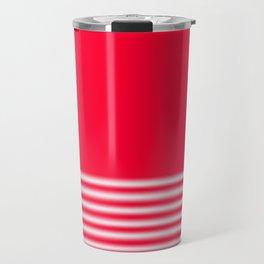 Red Gradient Stripe Travel Mug