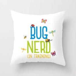 Kids Bug Nerd Insect Hunter Kid Gift Throw Pillow