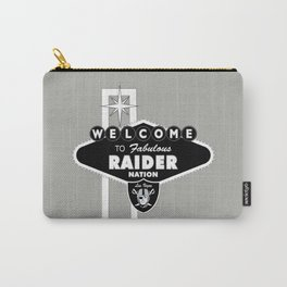 LAS VEGAS RAIDERS SIGN WHITE STAND WITH GREY BACKGROUND Carry-All Pouch