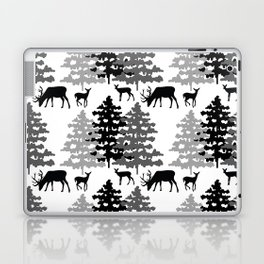 Woodland Rustic Deer Winter Mountain Forest Trees Laptop & iPad Skin