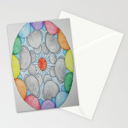 Interplanetary Elephants with Balloons Stationery Cards