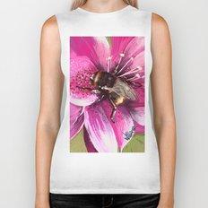 Bee on flower 13 Biker Tank