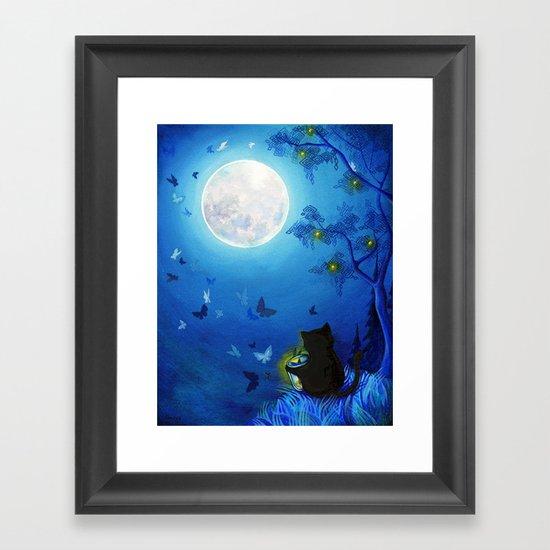 Butterflies and Fairy Lanterns Framed Art Print