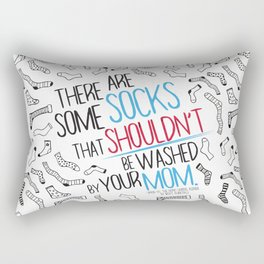 There Are Some Socks - Book Quote Design Rectangular Pillow