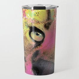 Little Caracal Cat Face Travel Mug