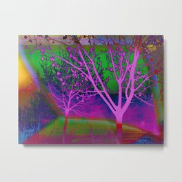 Tripping in the Park - Digital Art piece Metal Print