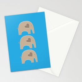 Blue Safari Elephant Stationery Cards